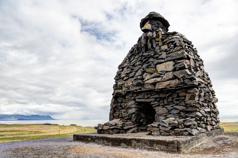 Iceland Iceland Memories Snæfellsnes Architecture Beauty In Nature Built Structure Cloud - Sky Day Human Representation Iceland Trip Iceland_collection Low Angle View Nature No People Outdoors Sculpture Sky Statue