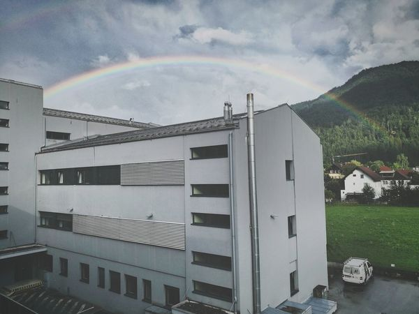 Moody Weather Rainbow Afterthestorm  Tyrol-Austria Beauty In Nature No People Architecture Cloud - Sky Outdoors First Eyeem Photo