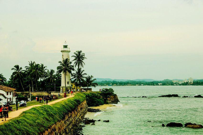 Sri Lanka Sea Lighthouse Traveling Nature Travel