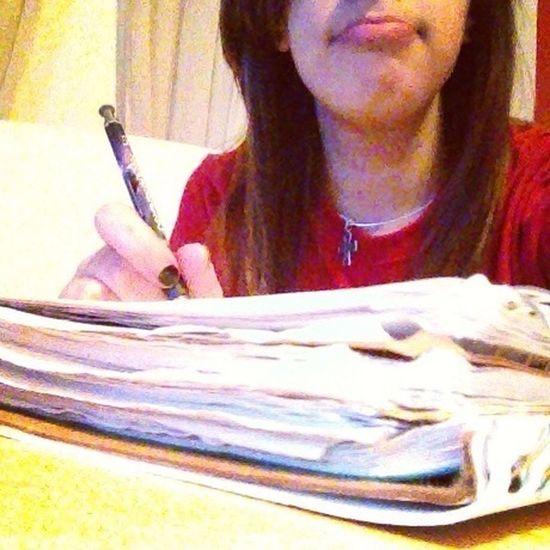 Procrastinating.