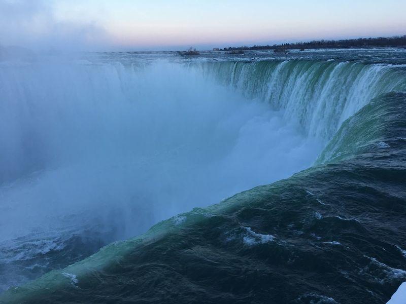 The power of Niagara Falls. Canada Niagara Falls
