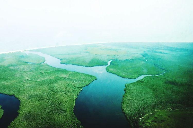 Scenic view of calm blue sea