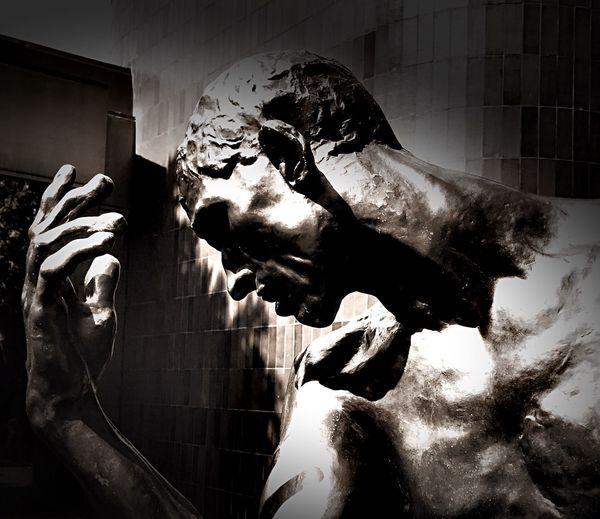 Rodin Statue detail Rodin Auguste Rodin Bronze Statue