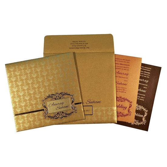 The fascinating wedding invitation designs and shimmer paper artwork is a result of handwork and commitment of our skilled designers and manufacturers. The beautiful shades of gold color have been conferred on the wedding card to attract your guests. https://www.123weddingcards.com/card-detail/D-1741 Or Visit Here for More at https://www.123weddingcards.com/designer-wedding-cards-invitations Designer Invitations, Designer Invites, Wedding Cards, Wedding Invitations By 123WeddingCards Designer Invites, Designer Invites, Wedding Cards, Wedding Invitations By 123WeddingCards Designer Wedding Cards Designer Wedding Invitations Wedding Cards, Wedding Invitations By 123WeddingCards Wedding Invitations By 123WeddingCards