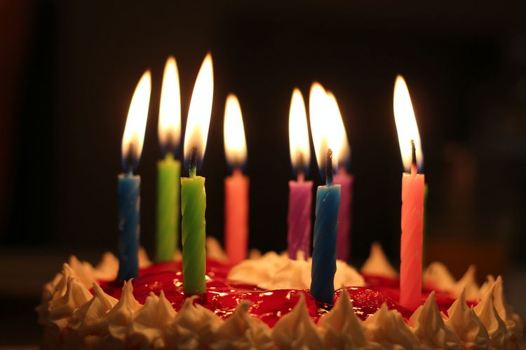9 Candles Holidays Jello Birthday Birthday Cake Birthday Candles Burning Cake Candle Celebration Close-up Flame Food Food And Drink Life Events Melting Multi Colored No People Strawberry Sweet Food Sweets Whipped Cream EyeEmNewHere A New Beginning