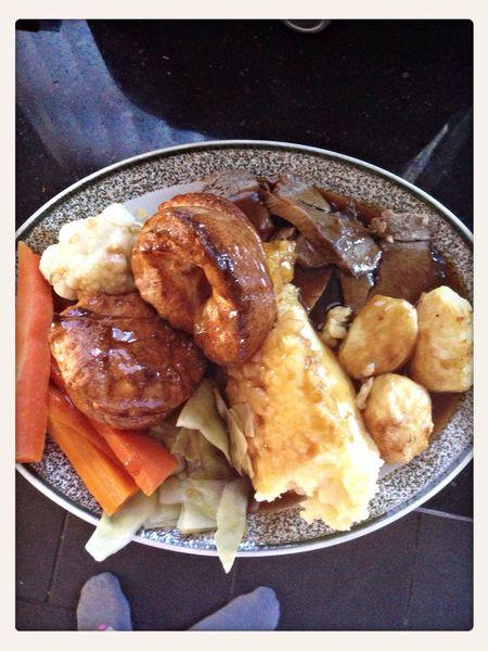 lovely roast lamb lunch mmmm