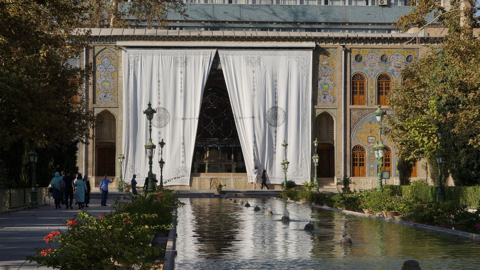 Architecure Building Exterior Curtain Fountain Fountain Golestan Palace Islamic Architecture No People Outdoors Palace Tourist Attraction  Tree Water Public Places public space