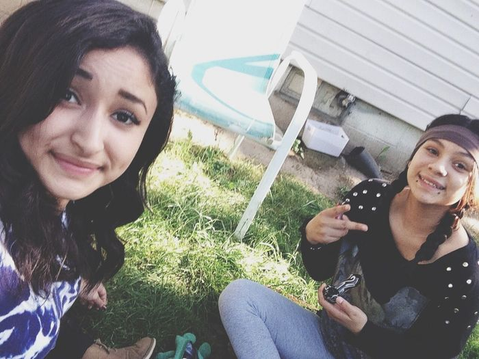 enjoying nature with my sister Stoner Stonergirl Marijuana Weed