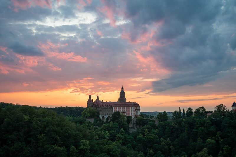 Burning sky in Poland Nature Landscape Poland Cloud - Sky Sky Built Structure Architecture Sunset Travel Destinations Nature Religion Belief Tree Plant Place Of Worship Building Building Exterior Beauty In Nature History Tourism The Past Spirituality No People
