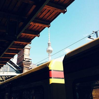 Awesomeweekend in Berlin Tvtower Sbahn station lifecanbeperfect