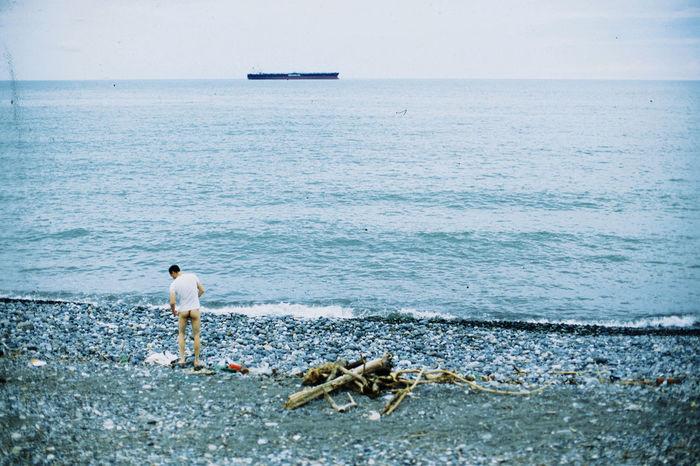 Analog Analogue Analogue Photography Batumi Beach Blue Colors Colour Film Georgia Horizon Over Water Lashafox Nakedmen People Sea Seaside Ship Tsertsvadze Wedding Wedding Photography Weddings Around The World