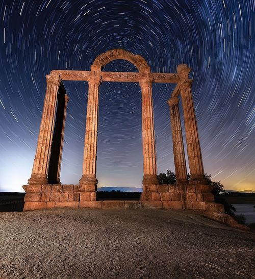 Augustobriga Sky Ancient Night Star - Space History Travel Destinations No People Outdoors Star Trail ruins Built Structure Roman EyeEmNewHere Miles Away EyeEmNewHere Colour Your Horizn A New Beginning
