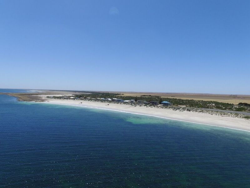 Fly over Port Rickaby, South Australia with DJI Phantom 3 drone. Australia Beach Blue Blue Sky Caravan Park Clear Sky Coast Coastline Drone  Dronephotography Fishing Holiday Jetty Outdoors Pier Relaxing Sand Sandy Beach Sea Shack Summer The Great Outdoors - 2015 EyeEm Awards Vacations Water Waterfront