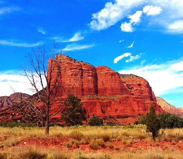 Arizona Sedona Way Out West Red Rock Natural Beauty Desert Mountains Greenery Shrubery Road Trip Travels Surprise Travels Exploring Adventure Sky And Clouds Scenic