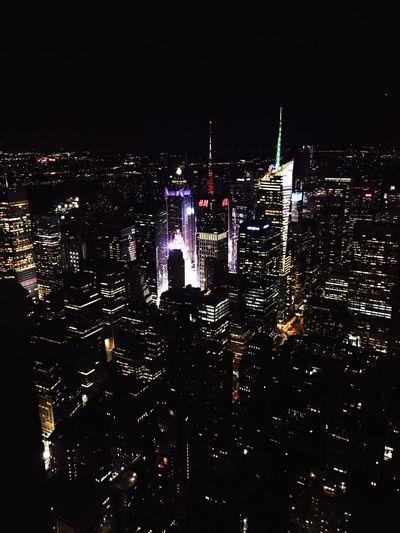 Lost In The Landscape IPhone Photography New York Skyscraper Cityscape Architecture Illuminated Night Manhattan Deck View