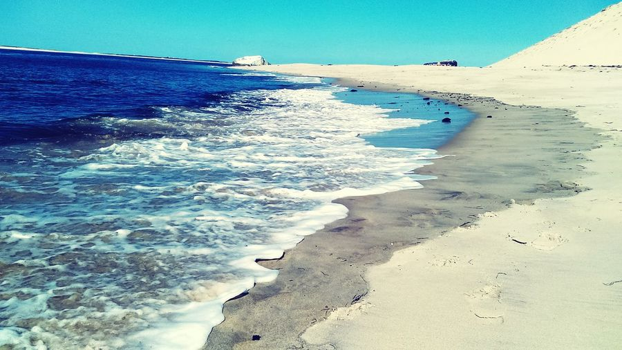 Sand Beach Sea Sunny Wave Sky Nature Landscape Outdoors Tourism Water Beauty In Nature Blue Travel Destinations Sun Sunlight Day Scenics Vacations Clear Sky Sunny Blokhaus