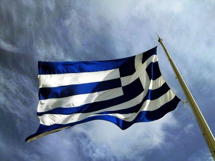 Flag Athens Blue Sky Wind Me Around The World Traveling Europe Greece Taking Photos