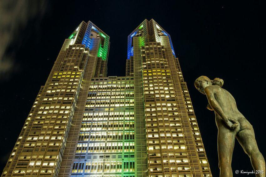 そうだ 都庁、行こう。このライトアップは明日までですよ Nightphotography Lightup Building Olympus Om-d E-m10