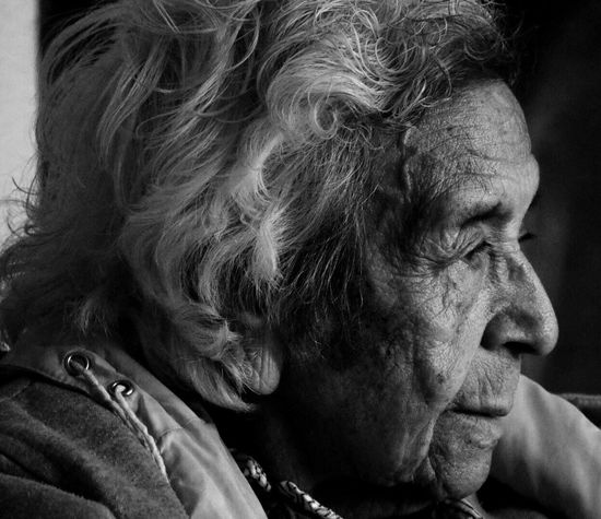 Senior Adult Real People Wrinkled One Person Close-up Headshot Senior Women Human Face Indoors  Adult People Grandma Abuela Latina Mexican Black And White Friday