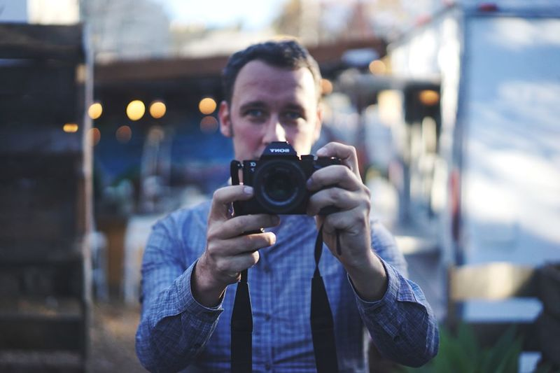 Portrait Of A Male Photographer