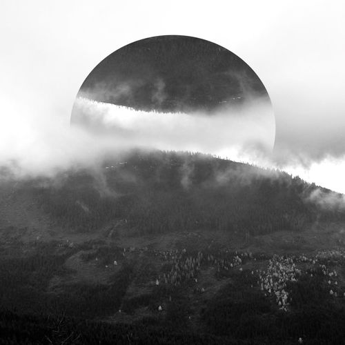 Inversion. Sky Nature Scenics Tranquility Cloud - Sky Beauty In Nature Outdoors Tranquil Scene Landscape Mountain No People Outdoor Photography Monochrome Blackandwhite Greyscale Moon Day Tree Astronomy Fine Art Photography Art Digital Art