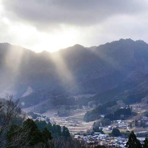 Japan Miyazaki Takachiho Helloworld Goodmorning Sunshine Mountains Town Clouds Pic