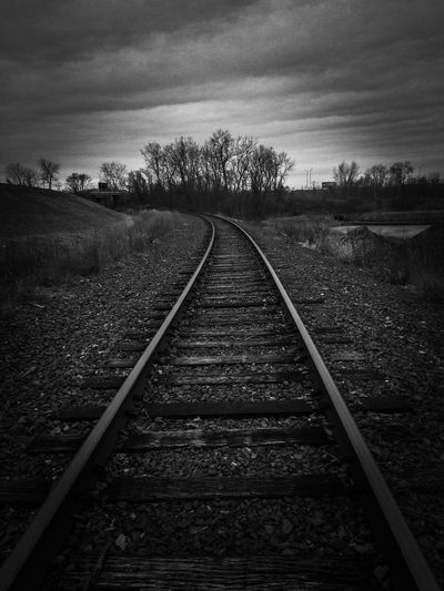 Classic Railroad Track Diminishing Perspective The Way Forward Rail Transportation No People Day Outdoors Transportation Sky Beauty In Nature Nature Tree