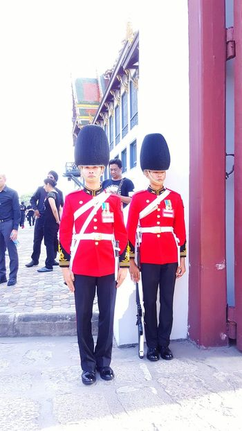 Uniqueness Red Full Length Adults Only Uniform Young Adult Disguise People Day Adult Only Men Outdoors Men Togetherness Royalty Thailand Adventure Headwear