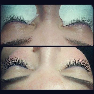 Ally before and after lash extensions. Simplebeauty  Lashextensions Novalash Ifeelpretty