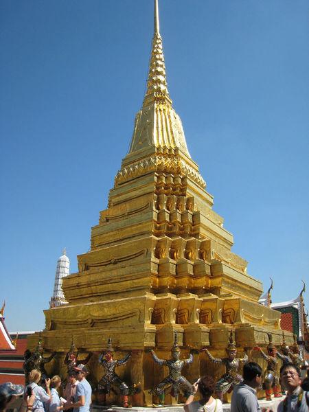 Golden pagoda Bangkok Bangkok Thailand Architecture Big Pagoda Building Exterior Built Structure Clear Sky Day Gold Gold Colored Golden Pagoda Large Group Of People Men Outdoors People Place Of Worship Real People Religion Sky Spirituality Travel Destinations Women