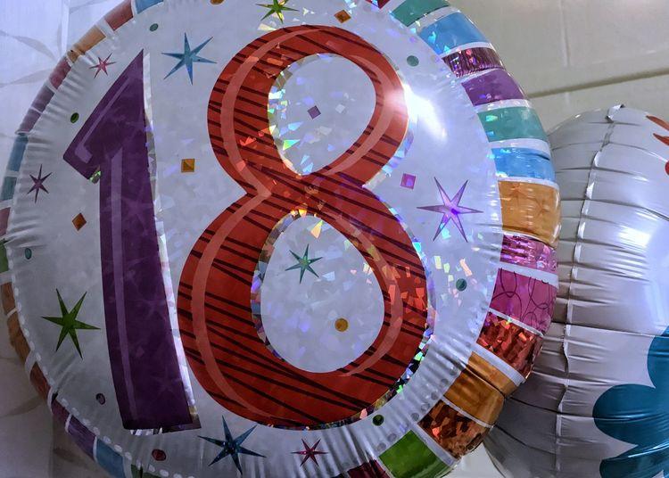 18th birthday balloon. Balloon Mylar Balloon 18th Birthday 18th Birthday Balloon Horizontal Numbers Birthday Celebration Party