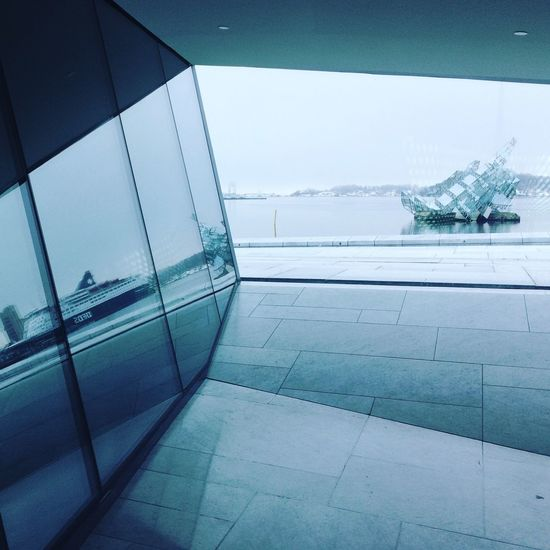 Polygonal Reflection Diagonals Opera House Oslo, Norway Sculpture Interior Style Interior Window Cold Temperature Day No People Nature Winter Indoors  Architecture