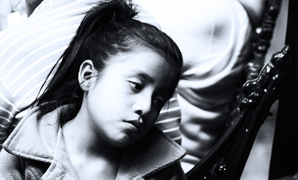 Walking Around Young Women Close-up Monochrome Blackandwhite Composition Puebla De Zaragoza Hope Sadness
