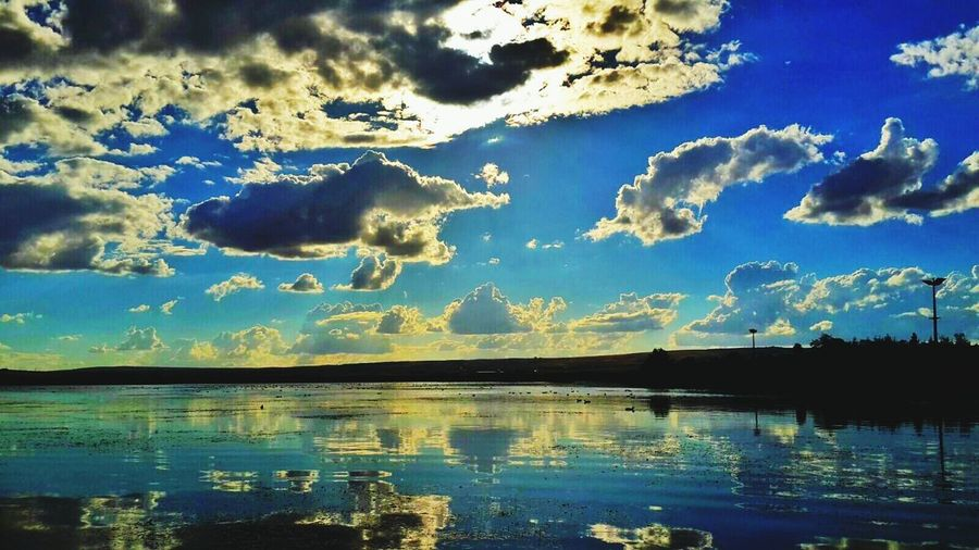Sky Reflection Nature Naturelovers Sundown Mogan Lake Lake Yansıma