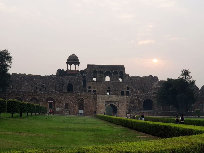 old red fort City History Old Ruin Architecture Sky Grass Building Exterior Built Structure Ancient Rome Fort Civilization Ancient Civilization Fortified Wall Canon Cannon Amphitheater Castle Archaeology Fortress Pyramid King - Royal Person The Past Ancient History Ancient Egyptian Culture Dome Tomb Ancient