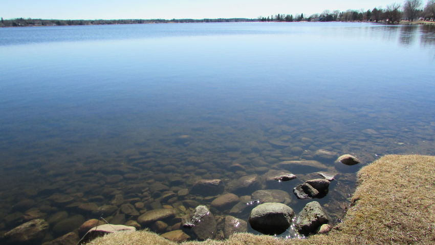 Taking Photos Lake Like Glass Tranquility Rocky Shoreline No People Lake Cadillac Pure Michigan