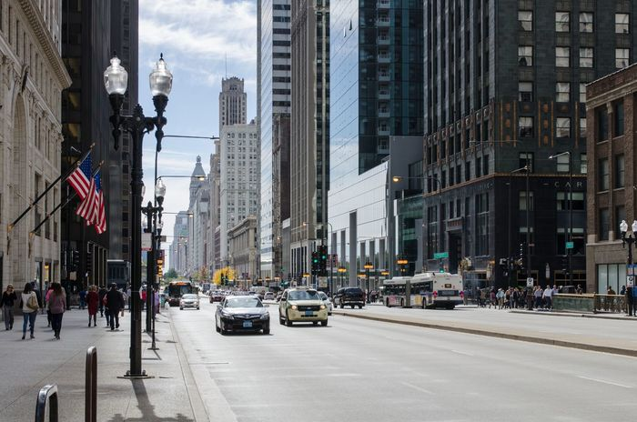 Chicago Building Exterior Chicago City City Life City Street Day Loop Street Travel Destinations