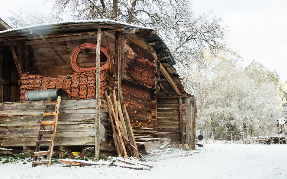 Winter Village Barn Bolu..TURKEY Cold Temperature Fencing Fencing Post Landscape Nature Outdoors Pine Tree Rotted Wood Sky Snow Snowy Landscape Snowy Trees Sünnetköy Tiles Trees And Sky Turkey Village Village Life Winter Winter Wonderland Wintertime Wooden House Wooden Texture
