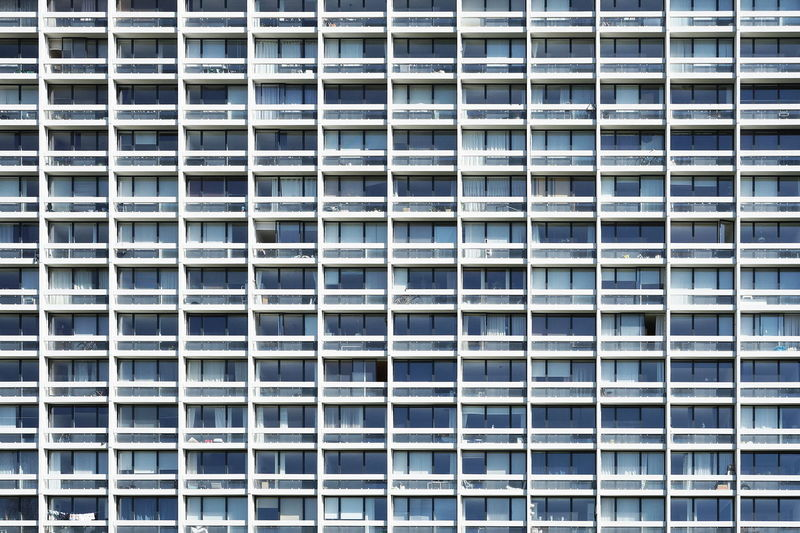 Apartment Architecture Backgrounds Building Built Structure City Close-up Day Facades Façade Full Frame Geometric Shape Modern No People Outdoors Repetition Side By Side Beautifully Organized