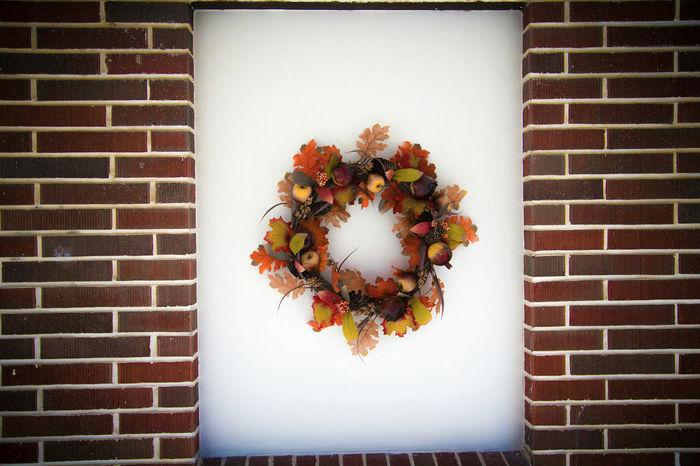 Autumn Decoration Wreath Orange Herbst Dekoration Kranz осень украшение венок оранжевый Autunno  Decorazione Arancia Corona
