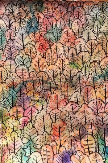 Russian Forest Aoutmn Forest Backgrounds Full Frame Multi Colored Abstract Pattern No People Textured