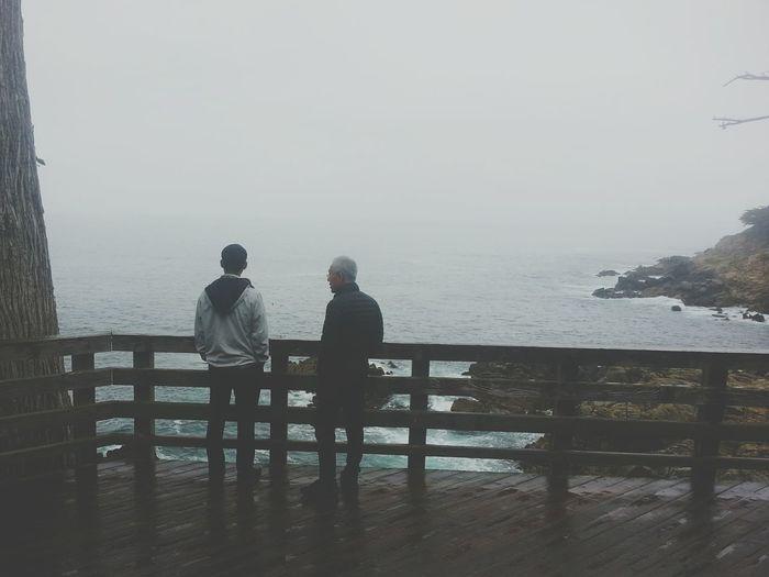 Two Men Scenery Monterey Pacific Ocean California Coastline Road Trip Nature Traveling America Cali Candid 17 Mile Drive