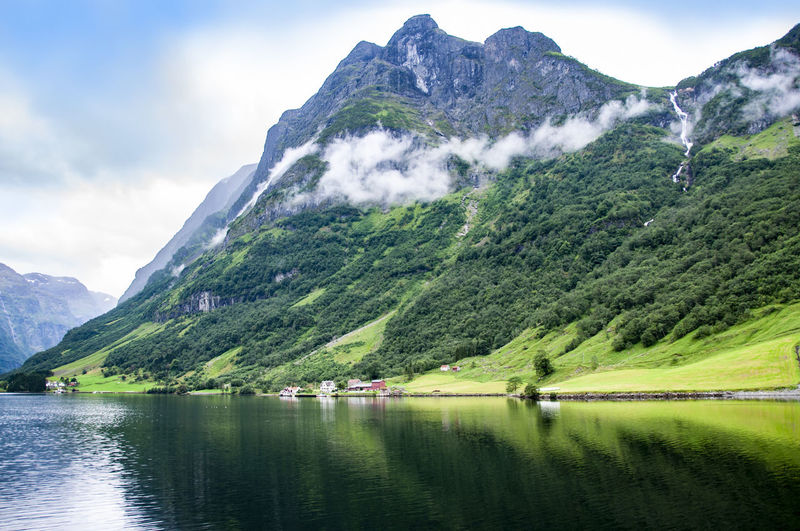 Fjords Mountain Scenics - Nature Beauty In Nature Mountain Range Tranquility Mountain Peak Green Color Nature Water