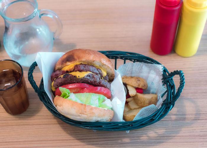 A burger, as