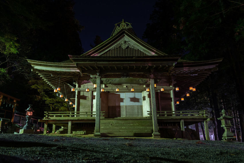 Japan Architecture Buddhist Temple Night Lantern Japanese Architecture Religion Spirituality Travel Destinations Outdoors Building Place Of Worship Koyasan