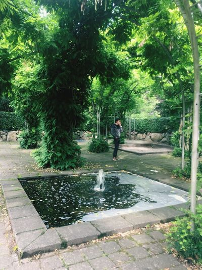Human Made Nature One Man Only Green Color One Person EyeEmNewHere EyeEm Selects Outdoors Man Made Structure Man Made Nature Growth hPark kFountain nVintage Photo Half Full Or Half Empty? EyeEmNewHere