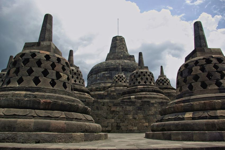 Ancient Ancient Civilization Architecture Borobudur Borobudur Temple Built Structure Cloud - Sky Day History No People Outdoors Place Of Worship Religion Sky Spirituality Temple - Building Travel Travel Destinations Neighborhood Map