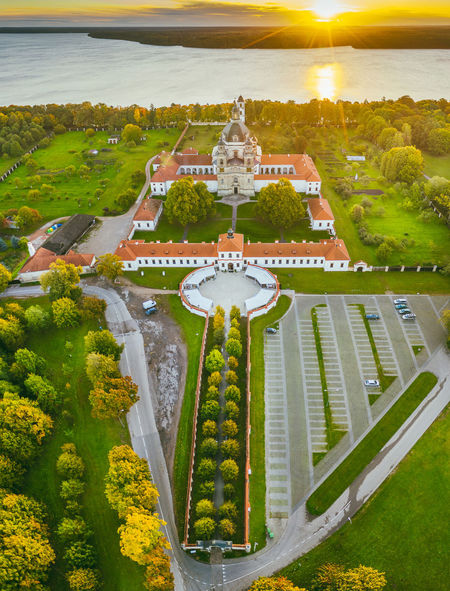 Pazaislis Monastery Drone  Aerial View Aerial Mavic 2 Mavic 2 Pro Europe Lietuva Autumn DJI X Eyeem Pazaislis Monastery Pazaislis Monestery Pažaislis Architecture Vertical Panorama Plant Built Structure Nature Building Exterior Water Tree Travel Destinations No People High Angle View Day Sky Grass Travel Outdoors Building History Garden Formal Garden Architectural Column