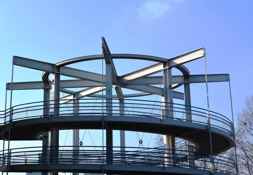 Architecture Construction Steel Blue Sky
