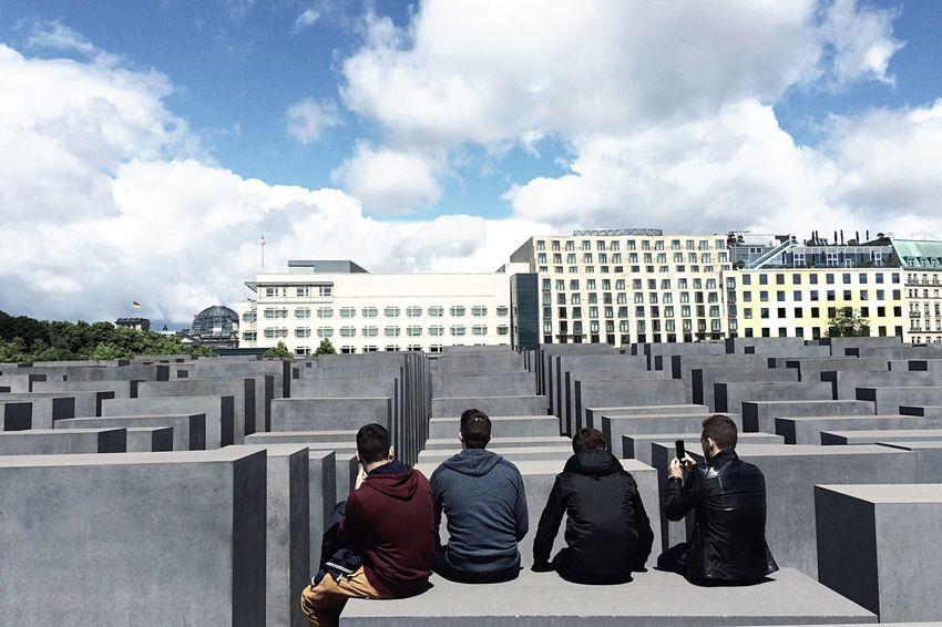 Urban Lifestyle Brotherhood Travel Taking Photos Rear View Bromance